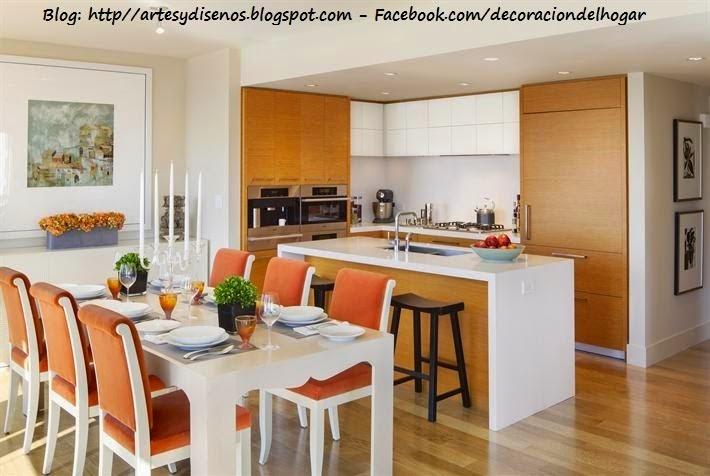Decoracion sala comedor cocina - Como decorar una cocina comedor ...