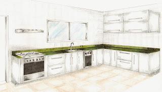 Desenhos Para Colorir Cozinha Completa