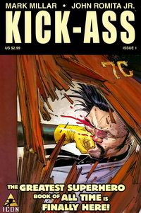 Cover of Kick-Ass Comic 1st Issue