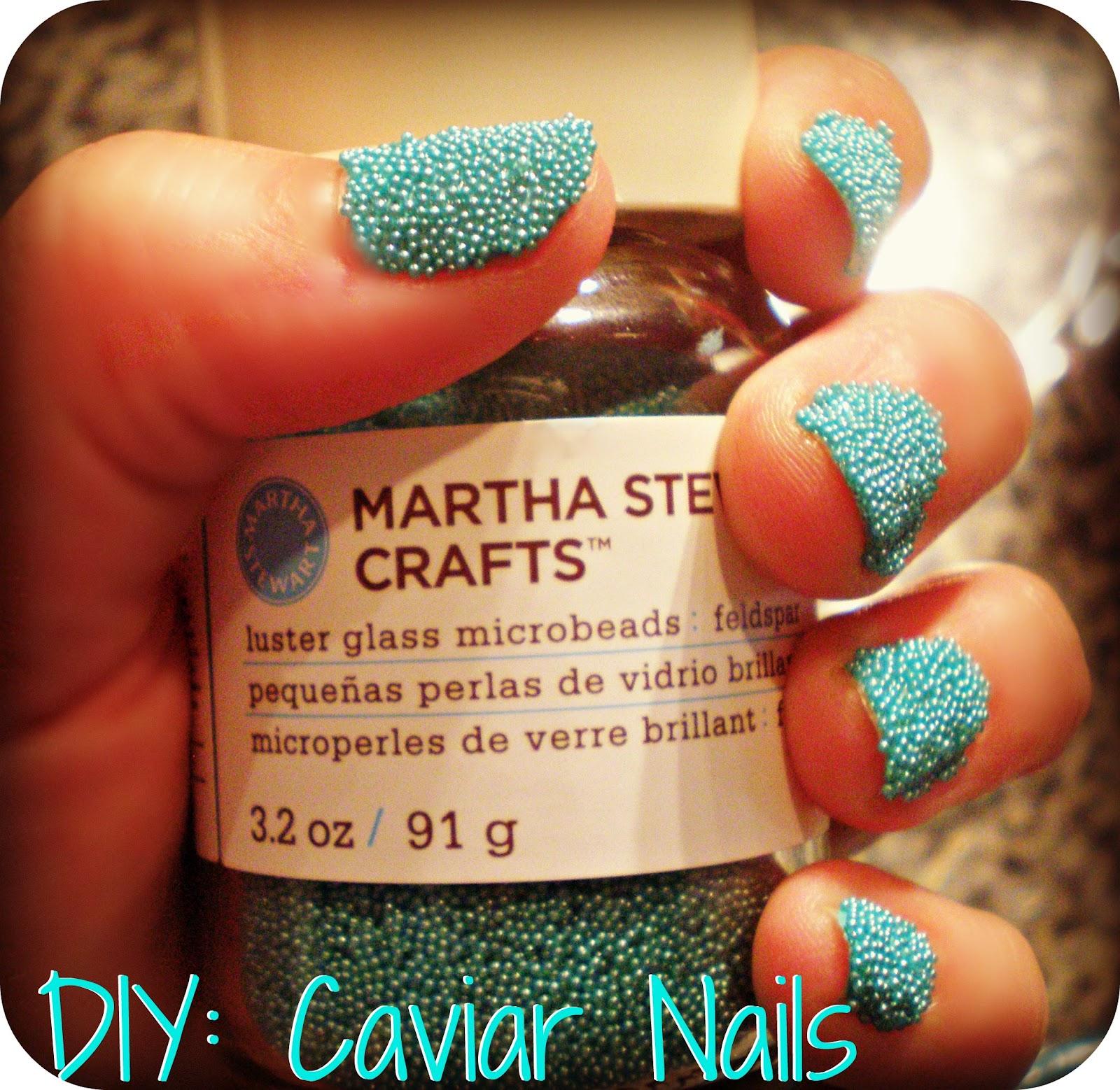 Caviar Nails: Beauty Blogger In Atlanta: DIY: Beaded Nails