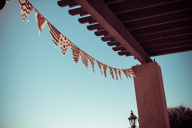 hand painted burlap bunting