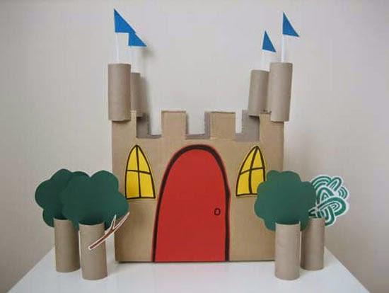 Castillo de juguete para los peques de la casa DIY