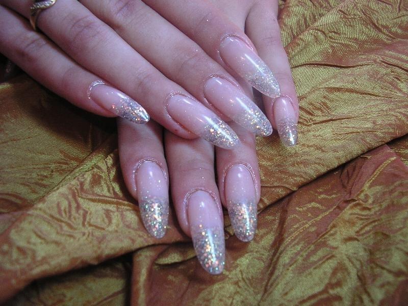 Glitter Tip Nail Art