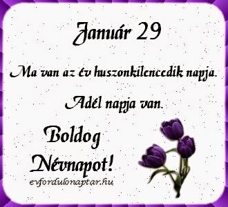 Január 29, Adél névnap