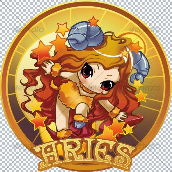 Zodiak Aries (21 Maret - 19 April) lambang domba elemen api