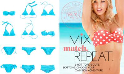 Victorias Secret bikini mixer mixes and matches bikini tops and bottoms from different styles and different designs