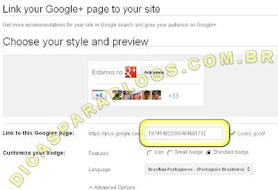 botão adicionar aos circulos do google plus