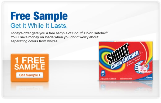 Time to try Shout Color Catcher! They are offering free samples now. They do have a limited supply available. Visit the link below and save. Free Sample: Shout Color.