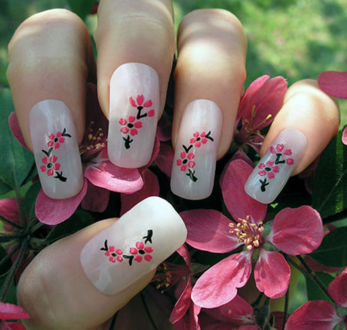 Second Image Is So Beautiful Pink Shaded Roses Try It Looks Amazing On Your Nails