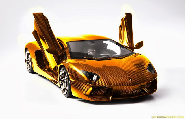 Gold-Lamborghini-Aventador-Model_1