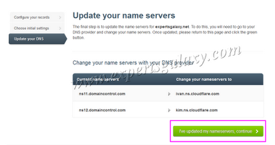 Change DNS Provider Nameservers