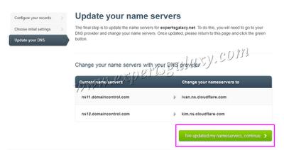 Change DNS Provider Nameservers
