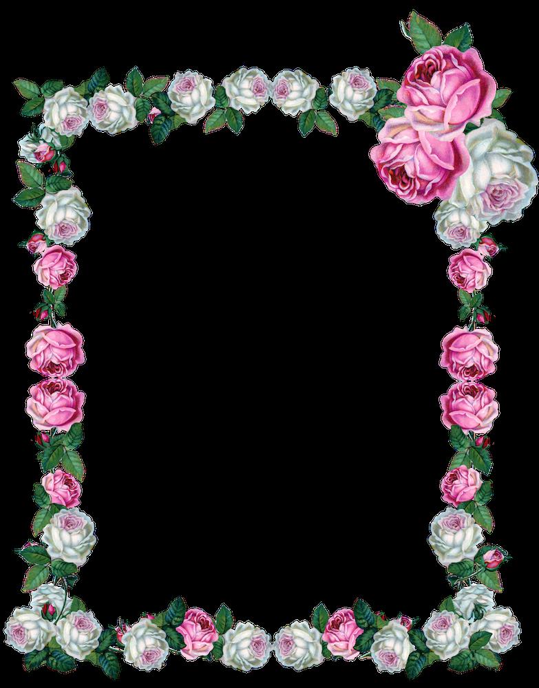 Free digital vintage rose frame png - Vintage Rosenrahmen - freebie ...