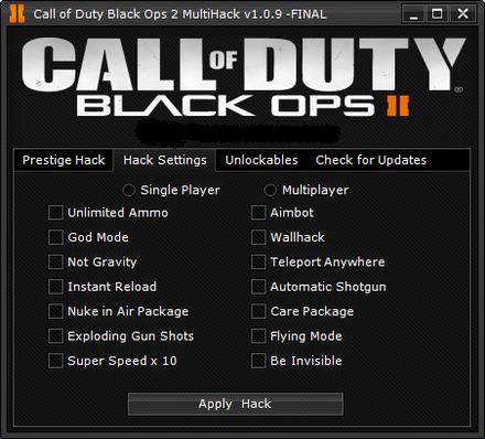 Call of Duty Black Ops 2 Hacks
