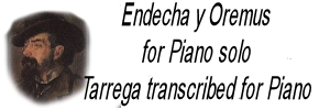Tarrega for piano