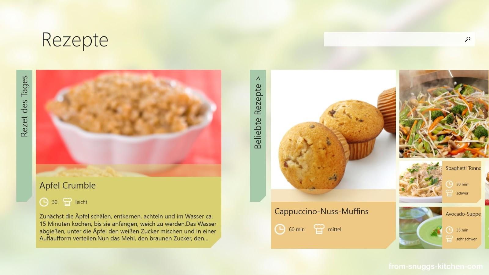 Bildausschnitt Top-Rezepte-App