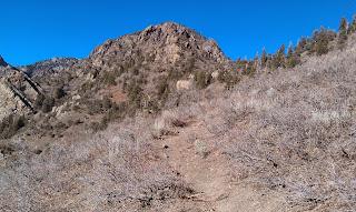 Climbing on the Mill Creek B North Trail