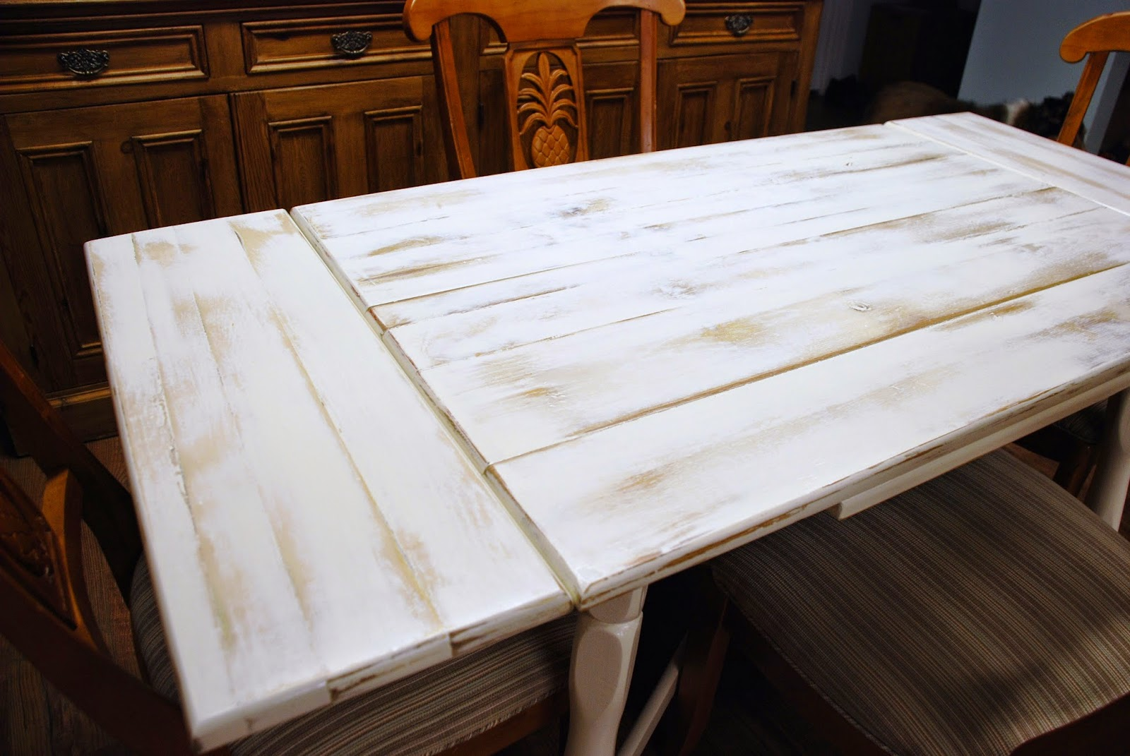 """possibilities: our """"new"""" old kitchen table"""