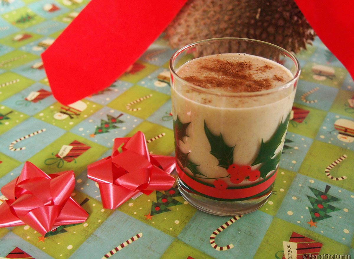Merry christmas durian nog recipe raw vegan naughty and nice one of the worlds great mysteries is that durian grows in the tropics where its always too hot and yet it is the best winter warm up food forumfinder Image collections
