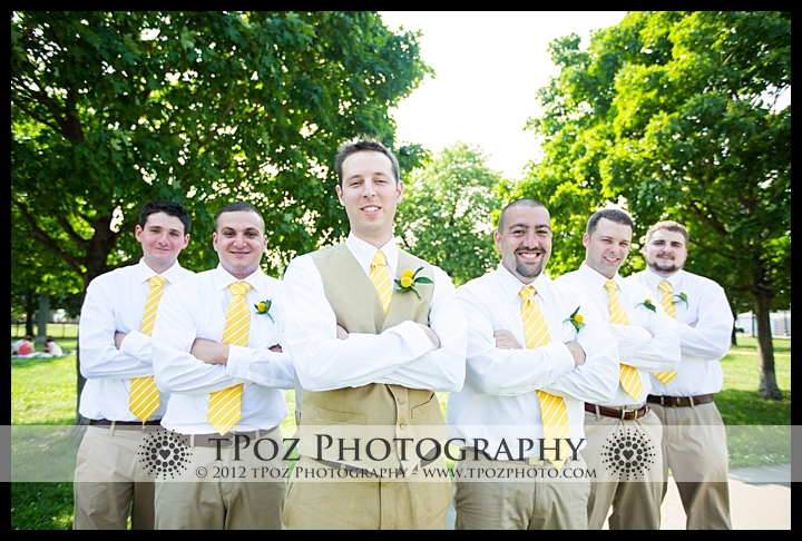 groomsmen on federal hill park