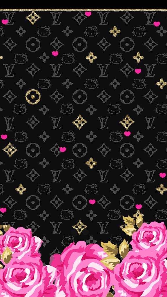 love pink pink black wallpaperfreebie