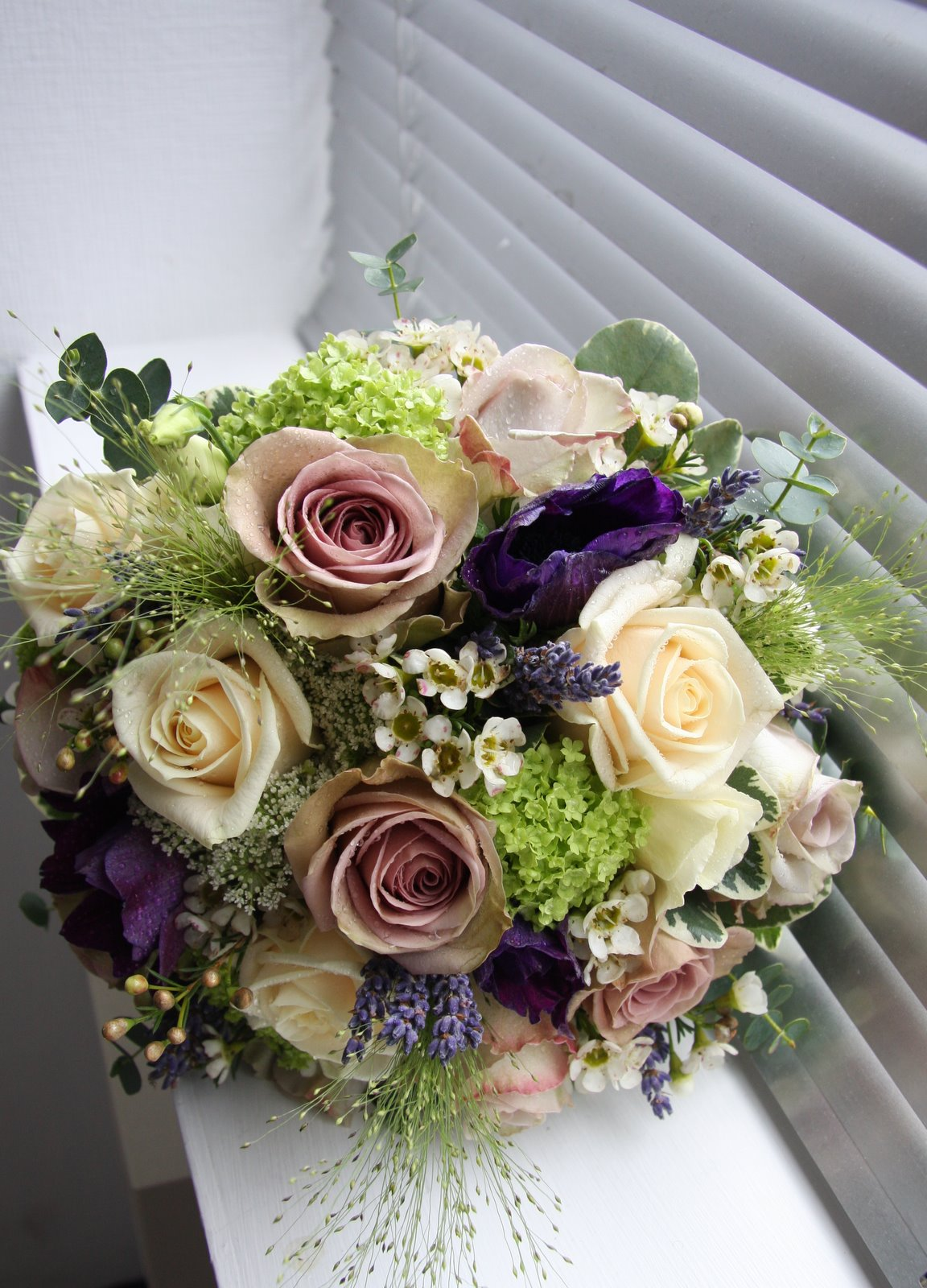 The flower magician vintage spring wedding bouquet for Best flowers for wedding bouquet