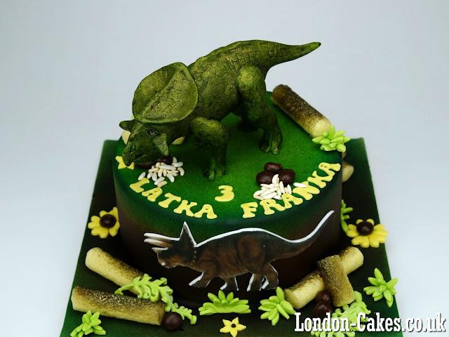 dinosaur birthday cavke delivered in croydon london