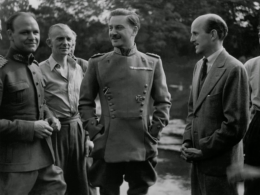 "Anton Walbrook on the set of ""The Life and Death of Colonel Blimp"""
