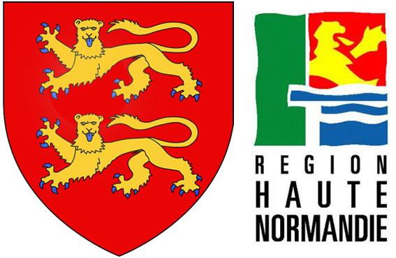 H raldie blasons et logos des r gions la haute normandie for Haute ou basse normandie