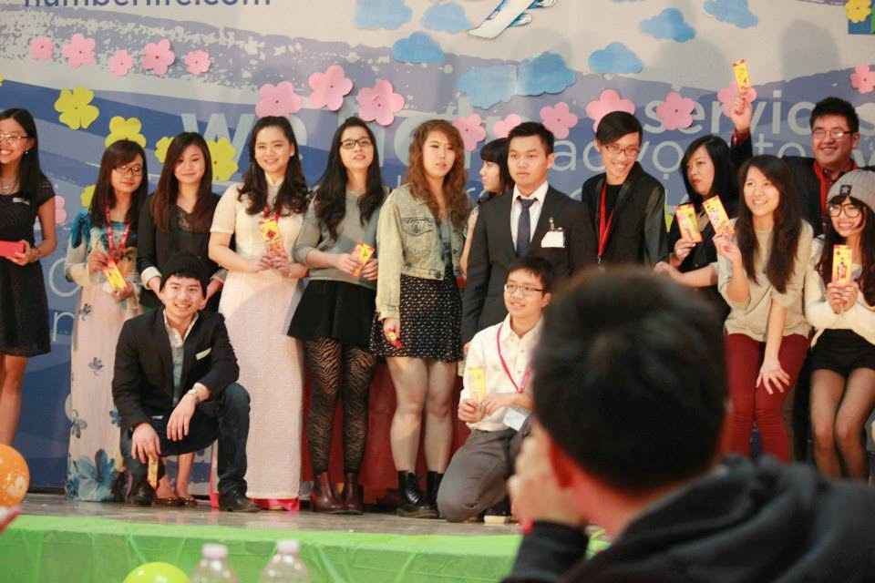 Sean with a group of Vietnamese Students