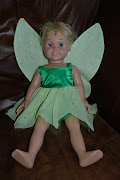 Since the doll has been wearing her Tinkerbell costume (wings and all) for .