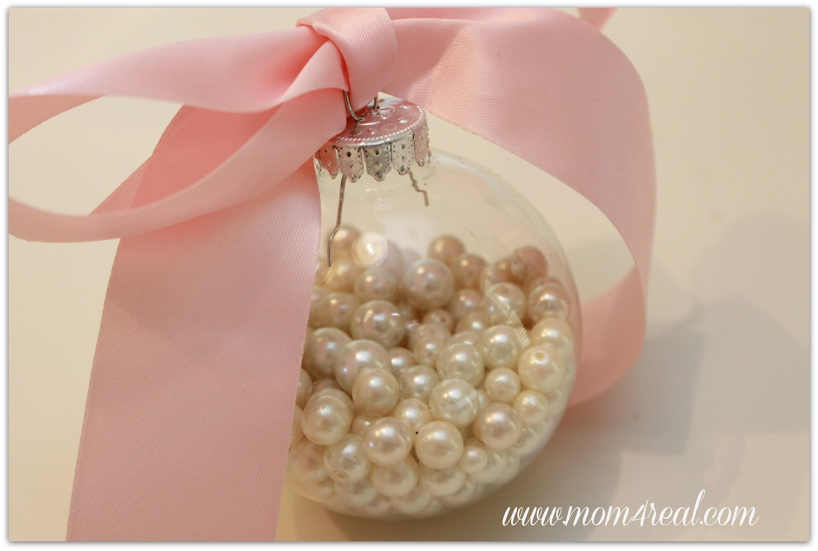 beautiful pearl glass ornament from mom 4 real - The Christmas Pearl