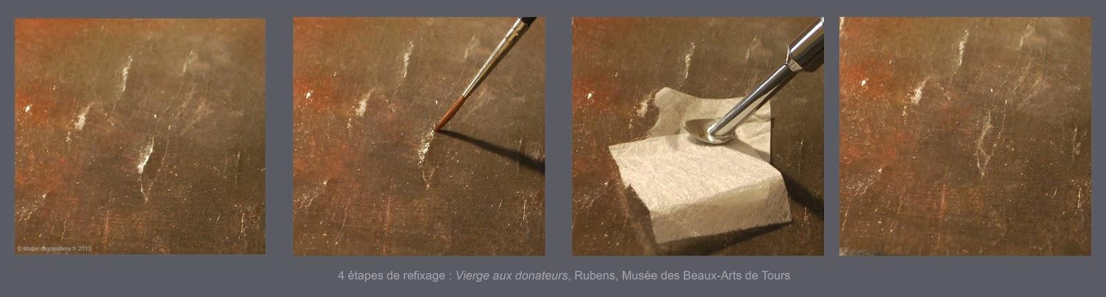 Restauration de epintures (Musée des Beaux-Arts de Tours)