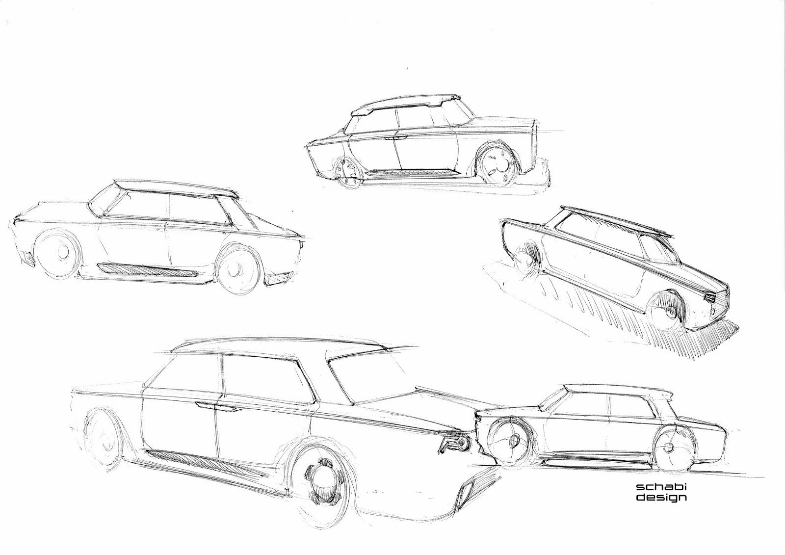 Schabi Design Sketch Site: Fiat 1500 Concept Sketches