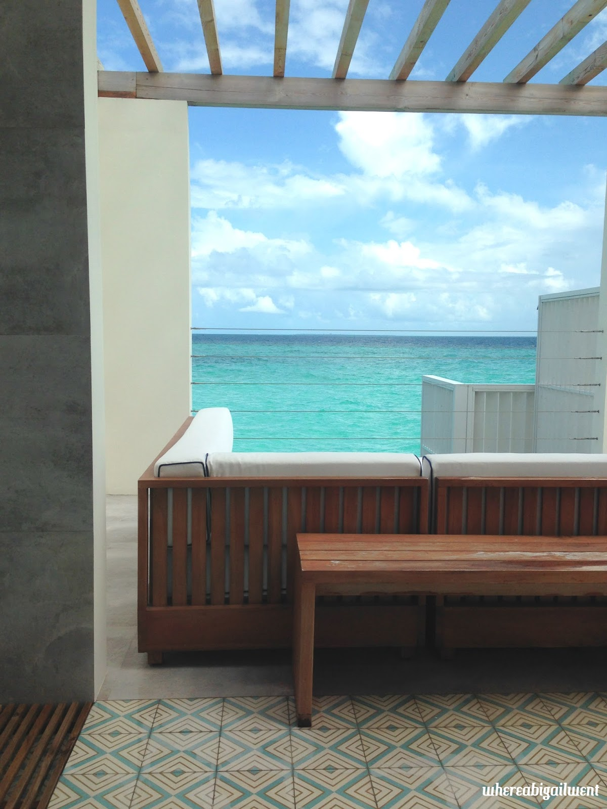 View from the bed of Ocean Lagoon Home