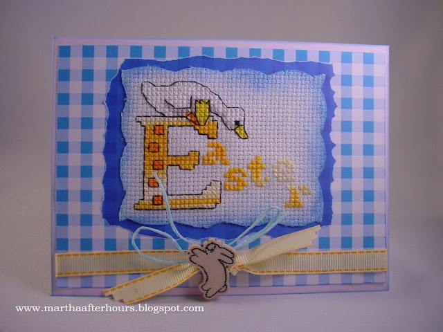 After Hours...: Easter Goose Cross Stitched Card