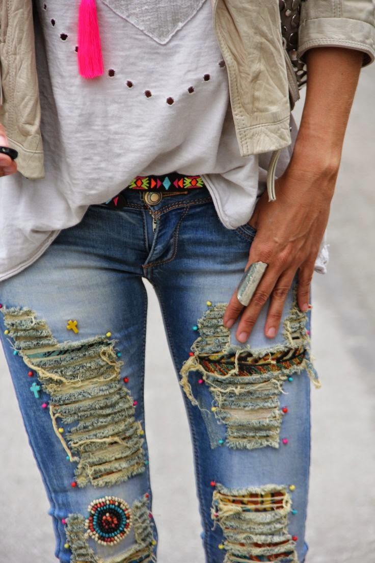 Декорировать джинсы своими руками