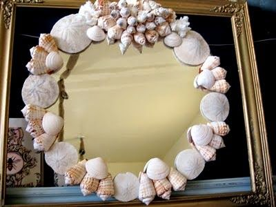 Seashell mirror by The Pickled Hutch