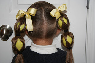 ponytail with easter eggs