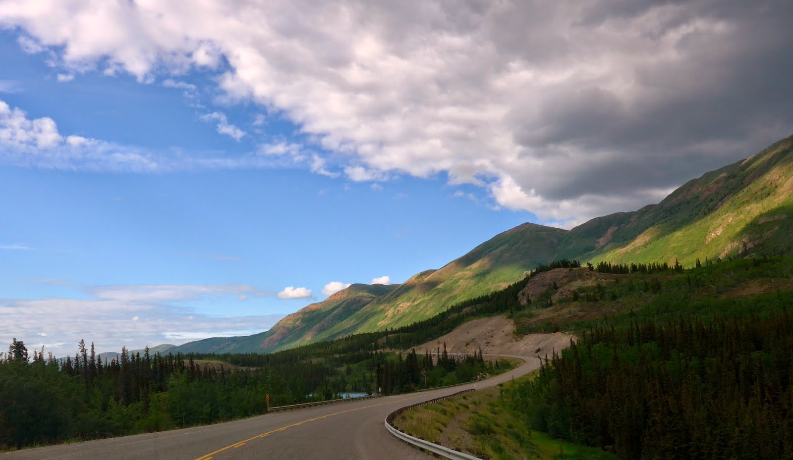 The road back to Whitehorse.