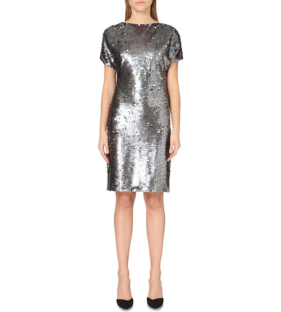 reiss silver sequin dress, reiss teresa dress,