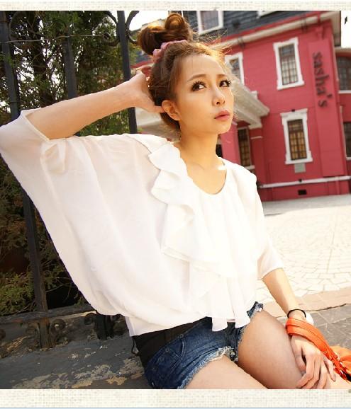 blusa babados branca
