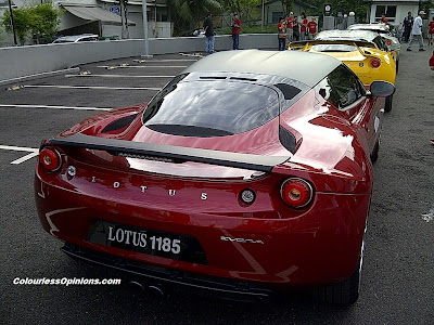Red Maroon Lotus Evora The Host Convoy Malaysia