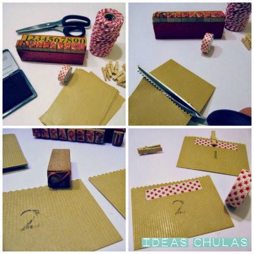 Preparando y decorando los sobres