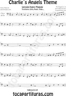 Partituras en Clave de Fa en Cuarta. Partitura de Trombón, Chelo, Fagot, Tuba Elicón, Bombardino, Fagot en Clave de Fa en 4º línea.  Sheet Music for Trombone, Cello, Bassoon, Tube and Euphonium in F bass clef F Music Scores