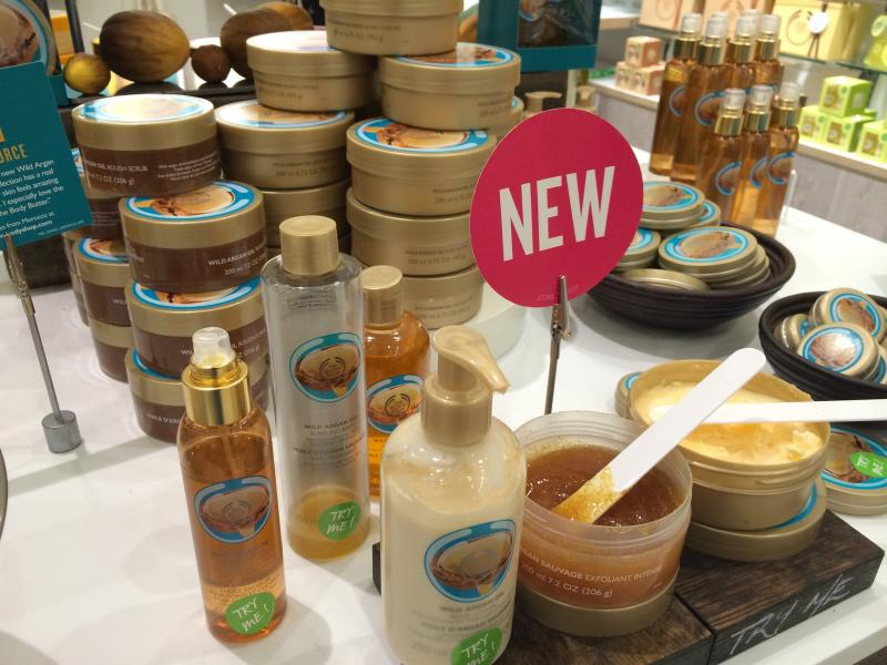 The Body Shop Argan Oil Range