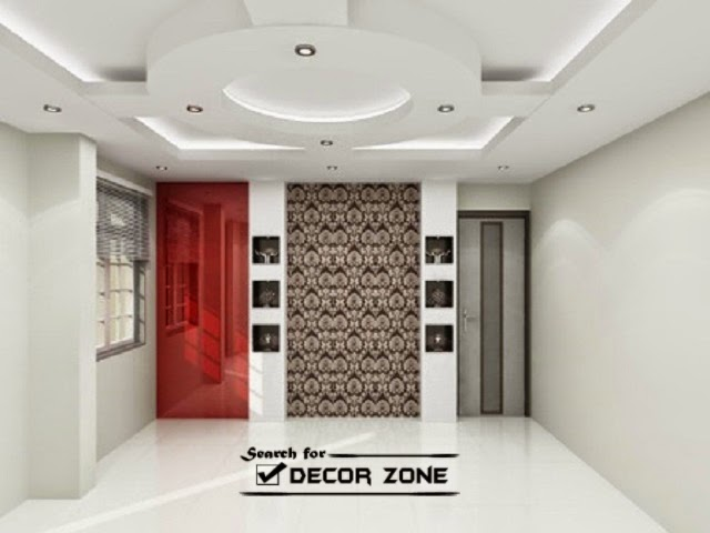 gypsum false ceiling designs for living room - 25 Modern POP False Ceiling Designs For Living Room