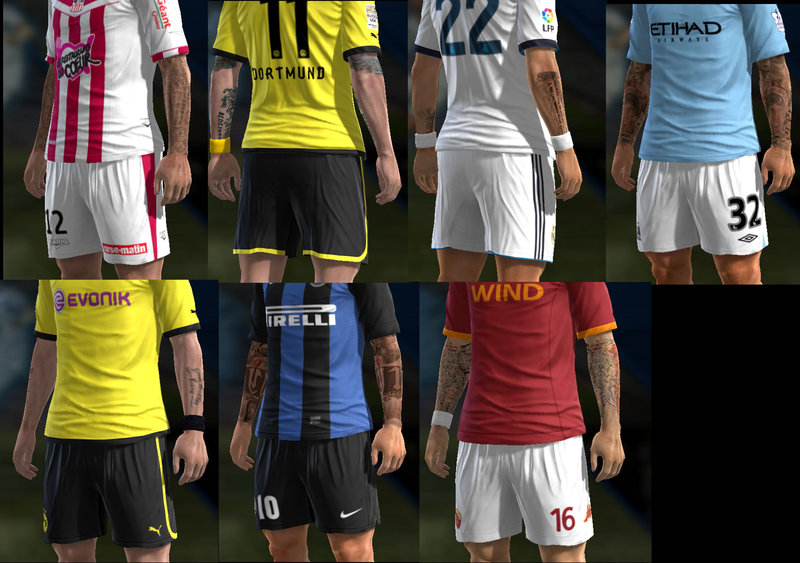 Pack de Tattoos v6 - PES 2013
