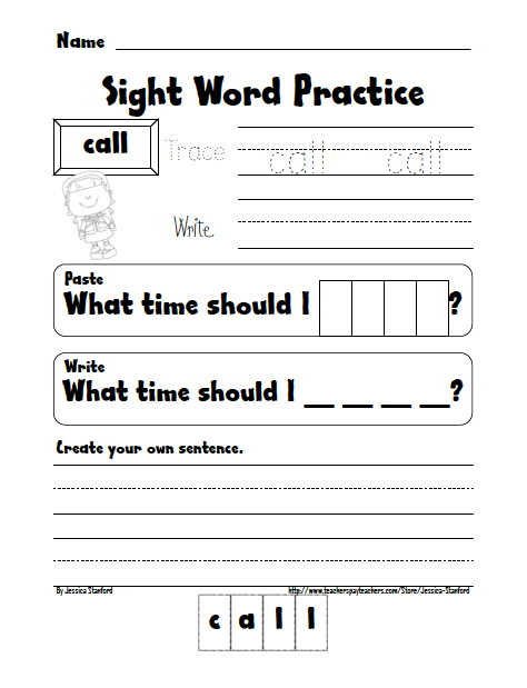 Handwriting Packets