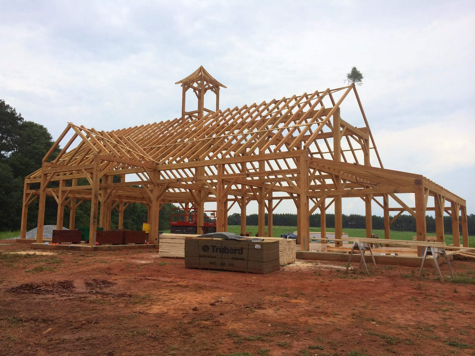 Update: Another timber framed barn completed!